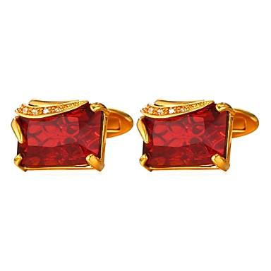 أزرار أكمام رسمي موضة بروش مجوهرات فضي ذهبي من أجل هدية مناسب للبس اليومي