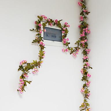 زهور اصطناعية 1 فرع فردي أنيق الورود أزهار الحائط