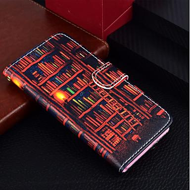 غطاء من أجل Apple iPhone X / iPhone 8 Plus / iPhone 8 محفظة / حامل البطاقات / مع حامل غطاء كامل للجسم منظر / رسم زيتي قاسي جلد PU