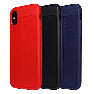 غطاء من أجل Apple iPhone X / iPhone 8 Plus / iPhone 8 ضد الصدمات / مثلج غطاء خلفي لون سادة ناعم TPU