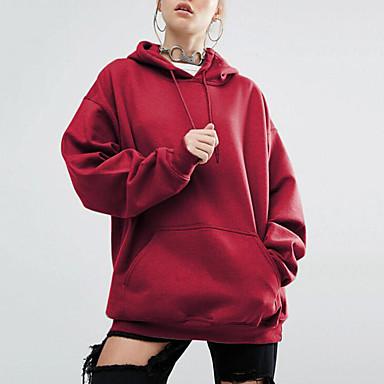 billige Hættetrøjer og sweatshirts til damer-Herre / Dame Gade / Sofistikerede Bomuld Tynd Bukser - Ensfarvet Flettet Sort / Efterår / Vinter / I-byen-tøj