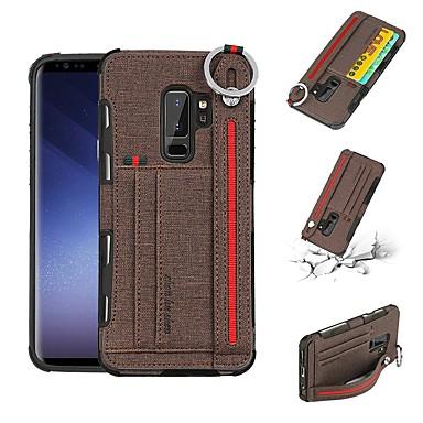 غطاء من أجل Samsung Galaxy S9 / S9 Plus / S8 Plus محفظة / حامل البطاقات / ضد الصدمات غطاء خلفي لون سادة قاسي جلد PU
