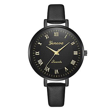 Geneva نسائي ساعة المعصم كوارتز جلد أسود / بني تصميم جديد ساعة كاجوال كوول مماثل سيدات كاجوال موضة - أسود وذهبي أسود / أبيض براون / الذهب سنة واحدة عمر البطارية
