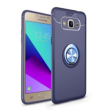 voordelige Galaxy J-serie hoesjes / covers-hoesje Voor Samsung Galaxy J7 Prime / J7 (2017) / J7 (2016) met standaard / Ringhouder / Magnetisch Achterkant Effen Zacht TPU