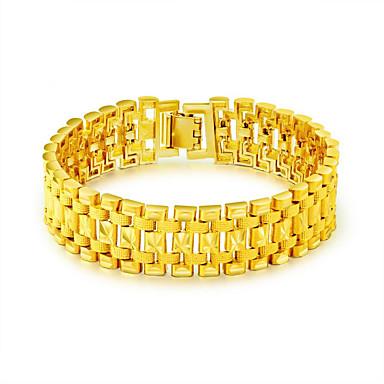 رجالي أساور السلسلة والوصلة أساور سوار النمر ربط سلسلة عبارة ترف موضة الفولاذ المقاوم للصدأ مجوهرات سوار ذهبي من أجل هدية عام جديد / مطلية بالذهب