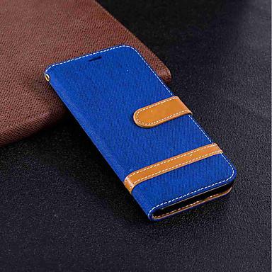 غطاء من أجل Huawei Mate 10 lite / Mate 10 محفظة / حامل البطاقات / مع حامل غطاء كامل للجسم لون سادة قاسي منسوجات إلى Mate 10 / Mate 10 lite