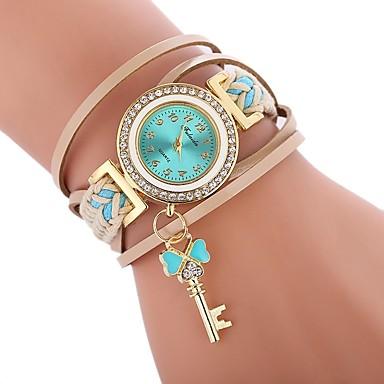 9ddaa4894464f ساعات النساء · نسائي ساعه اسورة ساعة التفاف كوارتز جلد اصطناعي أسود   الأبيض    أزرق ساعة كاجوال تقليد