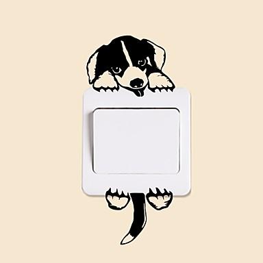 لواصق حائط مزخرفة / لواصق مفتاح الاضاءة - ملصقات الحائط الحيوان حيوانات غرفة الجلوس / غرفة النوم / دورة المياه