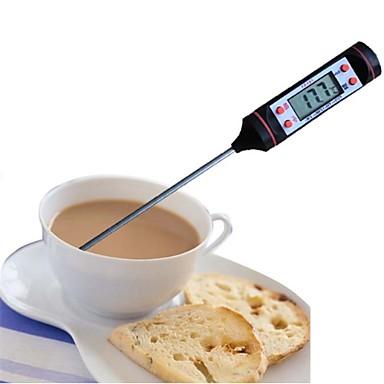ميزان الحرارة الرقمي الاستشعار التحقيق شواء للشواء للأغذية المطبخ أداة