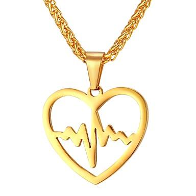 رجالي قلائد الحلي ستايل خلاق موضة الفولاذ المقاوم للصدأ ذهبي فضي 55 cm قلادة مجوهرات 1PC من أجل هدية مناسب للبس اليومي