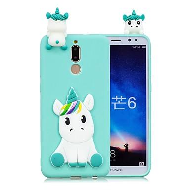 voordelige Huawei Mate hoesjes / covers-hoesje Voor Huawei Mate 10 / Mate 10 lite DHZ Achterkant Eenhoorn Zacht TPU
