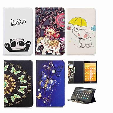 غطاء من أجل Amazon Kindle Fire hd 10(7th Generation, 2017 Release) محفظة / حامل البطاقات / مع حامل غطاء كامل للجسم فيل قاسي جلد PU