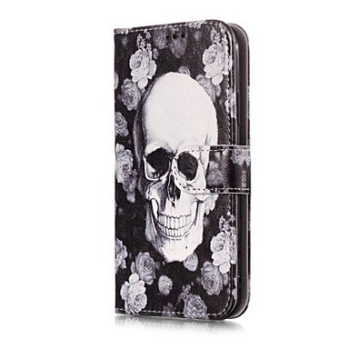 A 8 Fiore iPhone supporto Integrale Teschi Porta di iPhone credito carte X Con Apple Resistente Custodia per decorativo Plus pelle portafoglio Per iPhone X sintetica 8 06812347 iPhone 8 iPhone aqY6Xw
