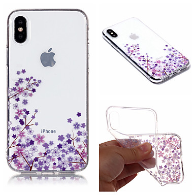 Case For Apple iPhone X / iPhone 8 Plus IMD / Pattern Back Cover Flower Soft TPU for iPhone X / iPhone 8 Plus / iPhone 8