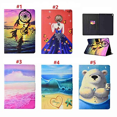 Case For Apple iPad Pro 10.5 / iPad Pro 11'' Card Holder / with Stand / Auto Sleep / Wake Up Full Body Cases Sexy Lady / Animal / Dream Catcher Hard PU Leather for iPad (2018) / iPad Pro 11'' / iPad