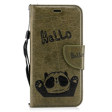 iPhone pelle iPhone carte di X supporto X Apple Custodia Resistente iPhone 8 Per credito iPhone Plus A 06833920 8 iPhone Con sintetica portafoglio per Integrale Porta Panda 8 4qwTqECf