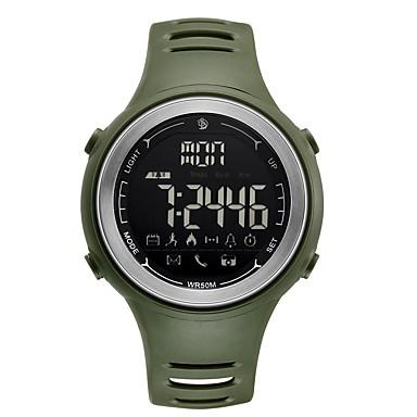رجالي ساعة رياضية ساعة رقمية رقمي مطاط أسود / قرنفلي 50 m مقاوم للماء بلوتوث رزنامه رقمي كاجوال موضة - أسود أخضر سنة واحدة عمر البطارية / LCD / المرحلة القمر