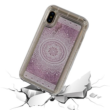 Plus agli X Apple Plus 8 TPU X iPhone 8 retro Morbido a iPhone Resistente Liquido cascata urti iPhone Per 06826224 Custodia iPhone per 8 Transparente iPhone Per Fiori Mandala 54wttq