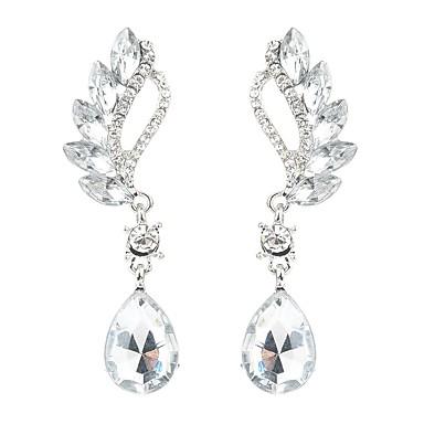 92a9970e7d2 Dame Lang Dråbeøreringe Simuleret diamant Øreringe Dråbe Damer Stilfuld  Klassisk Smykker Rød / Lys Grøn /