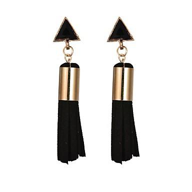 levne Náušnice-Dámské Dlouhé Visací náušnice Náušnice dámy Střapec Moderní  Elegantní Šperky Bílá   Černá e1a33510884