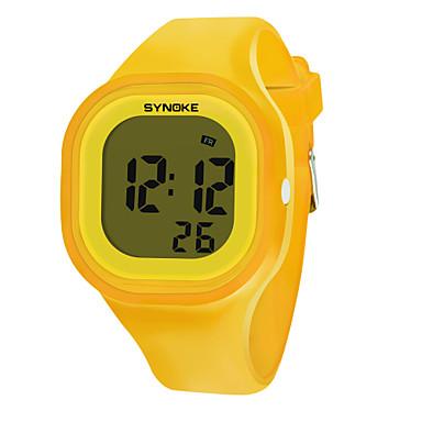 billige Herreure-SYNOKE Herre Dame Sportsur Digital Watch Digital Silikone Sort / Hvid / Blåt 50 m Vandafvisende Kalender Kronograf Digital Mode - Grøn Blå Lys pink / Stopur / Selvlysende i mørke