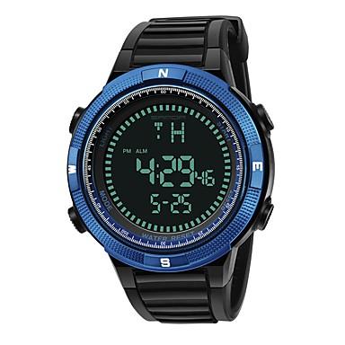 SANDA رجالي ساعة رياضية ساعة رقمية ياباني رقمي سيليكون أسود 30 m مقاوم للماء رزنامه ساعة التوقف رقمي ترف موضة - أزرق ذهبي ذهبي روزي / قضية / المرحلة القمر
