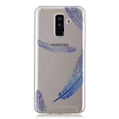 غطاء من أجل Samsung Galaxy A6 (2018) / A6+ (2018) / A3 (2017) شفاف / نموذج غطاء خلفي الريش ناعم TPU