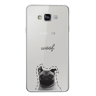 غطاء من أجل Samsung Galaxy A3 (2017) / A5 (2017) / A7 (2017) نموذج غطاء خلفي كلب / جملة / كلمة / كارتون ناعم TPU