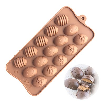 Baking Tools & Gadgets · 15 Holes Easter Christmas Egg Silicone Cake Mold DIY Chocolate Fondant Mould