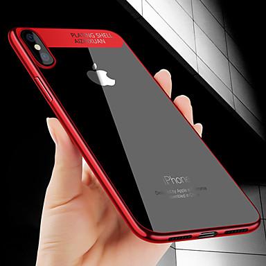 غطاء من أجل Apple iPhone X / iPhone 8 Plus / iPhone 8 تصفيح / نحيف جداً غطاء خلفي لون سادة ناعم TPU