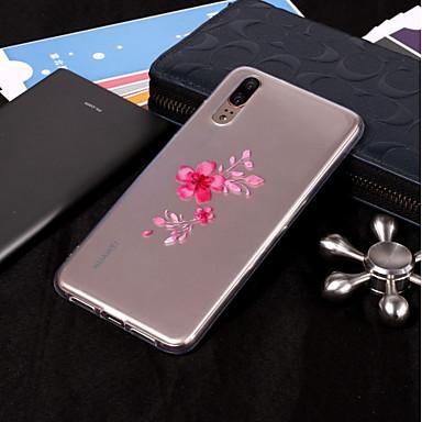 غطاء من أجل Huawei Huawei P20 / Huawei P20 Pro / P10 Plus IMD / شفاف / نموذج غطاء خلفي زهور ناعم TPU / P10 Lite
