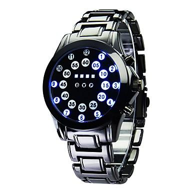 رجالي ساعة رياضية ساعة رقمية كوارتز أسود رزنامه رقمي موضة - أسود