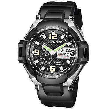 SYNOKE رجالي ساعة رياضية ساعة رقمية رقمي جلد اصطناعي أسود 50 m مقاوم للماء رزنامه الكرونوغراف رقمي تناظري-رقمي موضة - أصفر أحمر أخضر / ساعة التوقف / قضية