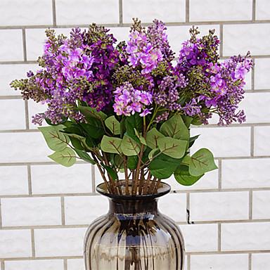 زهور اصطناعية 1 فرع كلاسيكي أنيق أوروبي ليلاك أزهار الطاولة