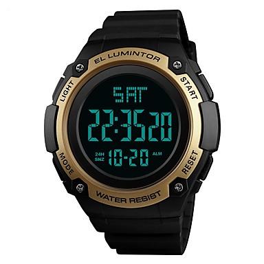 SKMEI رجالي ساعة رياضية ساعة رقمية رقمي جلد اصطناعي أسود / أخضر / قرنفلي 50 m مقاوم للماء رزنامه الكرونوغراف رقمي كاجوال موضة - أخضر أزرق ذهبي / ساعة التوقف / قضية