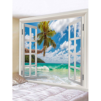 cheap Wall Art-Novelty / Holiday Wall Decor Polyester Classic Wall Art, Wall Tapestries Decoration