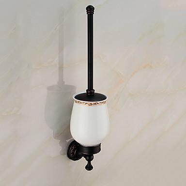 حاملة فرشاة التواليت تصميم جديد / متعددة الوظائف معاصر الفولاذ المقاوم للصدأ / الحديد 1PC - حمام الفندق حامل فرشاة الحمام مثبت على الحائط