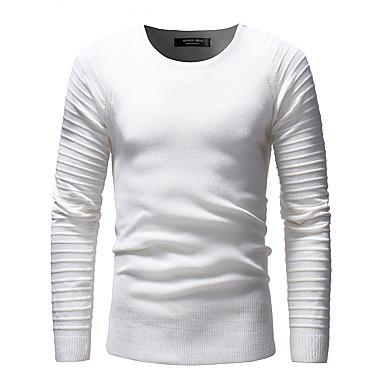 ieftine Bluze Bărbați-Bărbați Zilnic Mată Manșon Lung Regular Plover, Stil Nautic Negru / Gri / Verde Militar L / XL / XXL