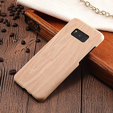 cheap Galaxy S6 Edge Cases / Covers-Case For Samsung Galaxy S8 Plus / S8 / S7 edge Ultra-thin Back Cover Wood Grain Hard PC