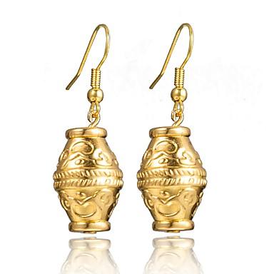 نسائي أقراط قطرة كلاسيكي ستايل سيدات الأقراط مجوهرات أصفر من أجل زفاف مناسب للحفلات 1 زوج