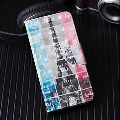 غطاء من أجل Huawei Huawei P20 / Huawei P20 Pro / Huawei P20 lite محفظة / حامل البطاقات / مع حامل غطاء كامل للجسم برج ايفل قاسي جلد PU / P10 Lite