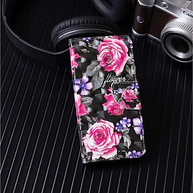 غطاء من أجل Samsung Galaxy A6+ (2018) / A6 (2018) محفظة / حامل البطاقات / مع حامل غطاء كامل للجسم زهور قاسي جلد PU إلى A6 (2018) / A6+ (2018) / A3 (2017)