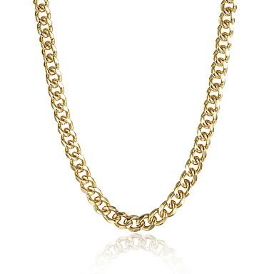 رجالي عقد ستايل خلاق موضة نحاس ذهبي 50 cm قلادة مجوهرات 1PC من أجل هدية مناسب للبس اليومي