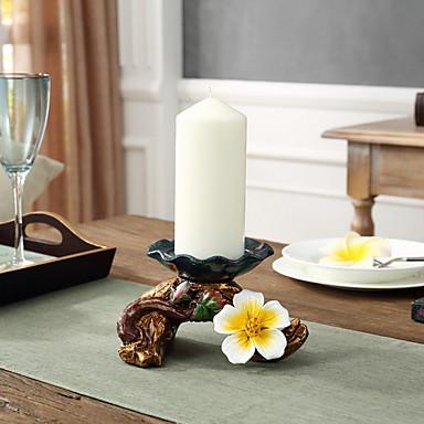 أسلوب بسيط ABS + PC Candle Holders الشمعدانات 1PC, شمعة / حامل شمعة