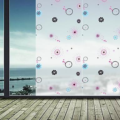 فيلم نافذة وملصقات زخرفة هندسي شخصية PVC ملصق النافذة