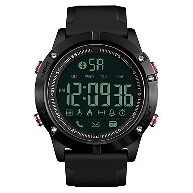 levne Pánské-SKMEI Pánské Sportovní hodinky Vojenské hodinky Digitální hodinky japonština Digitální Silikon Černá 50 m Voděodolné Bluetooth Alarm Digitální Luxus Módní - Černá Jeden rok Životnost baterie / Stopky