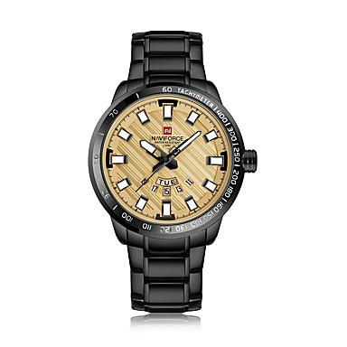 NAVIFORCE Pánské Hodinky k šatům Náramkové hodinky japonština Japonské  Quartz Černá   Zlatá 30 m Voděodolné e57d3a98ff