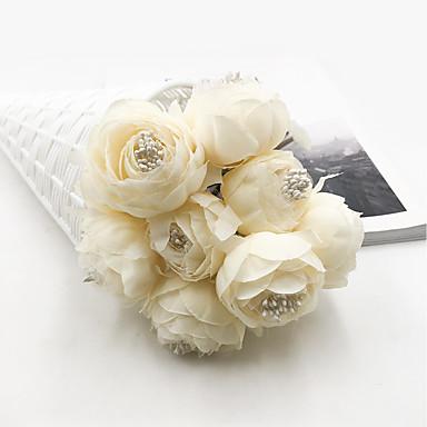 زهور اصطناعية 1 فرع كلاسيكي الزفاف / Wedding Flowers Camellia أزهار الطاولة