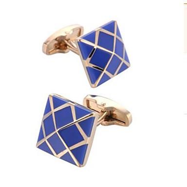 أزرار أكمام موضة بروش مجوهرات أزرق من أجل مناسب للبس اليومي المكتب & الوظيفة
