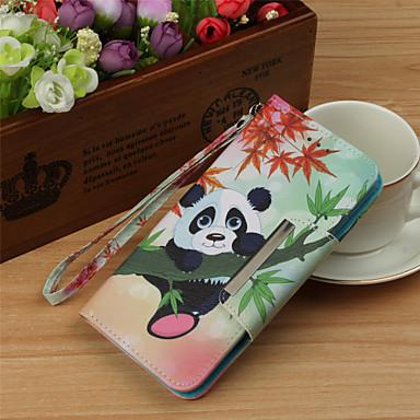 غطاء من أجل Samsung Galaxy S9 / S9 Plus / S8 Plus محفظة / حامل البطاقات / قلب غطاء كامل للجسم حيوان / باندا قاسي جلد PU